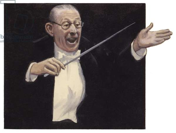 Igor Stravinsky (gouache on paper)