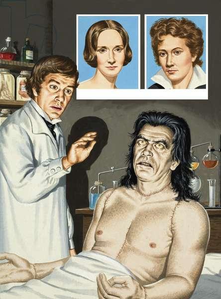 Frankenstein, A Monstrous Dream (gouache on paper)