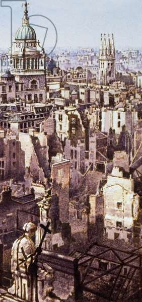 View from St Paul's during the Blitz