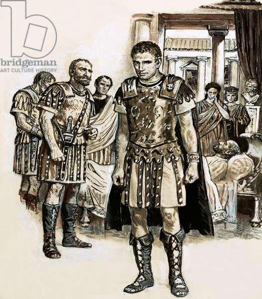 Emperor Constantine in York (gouache on paper)