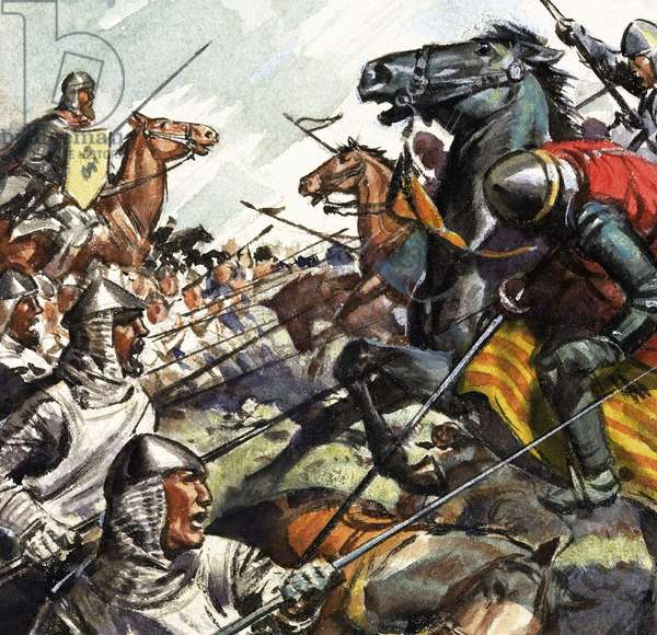Battle of Bannockburn (gouache on paper)
