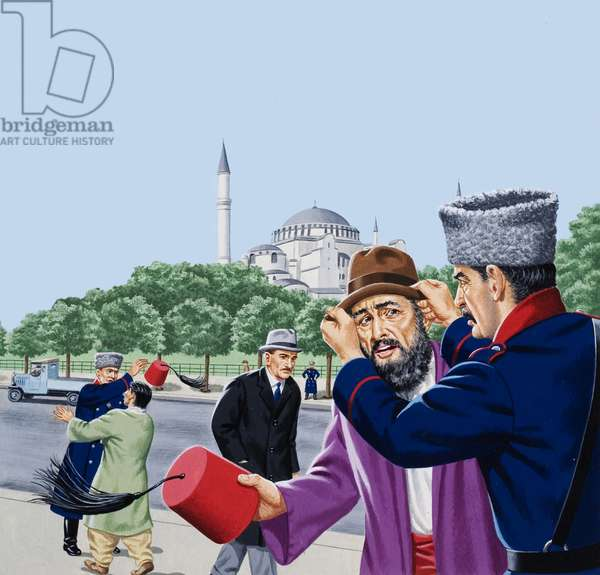 Replacing the traditional fez in Turkey