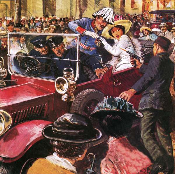 The assassination of Archduke Franz Ferdinand