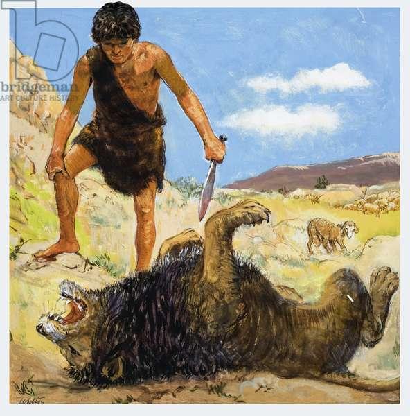 David, the Brave Shepherd