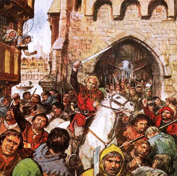 Jack Cade in a desperate fight to secure the Thames crossing