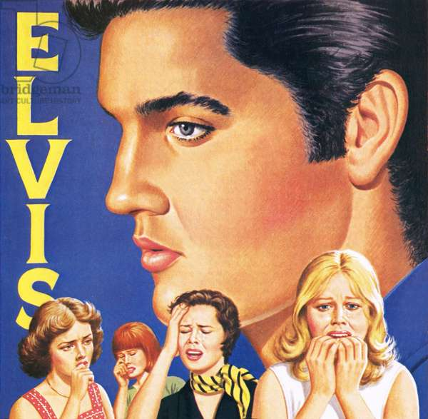 Elvis Presley, with fans weeping at his death in August 1977