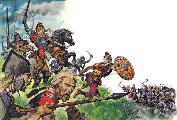 The legend of King Arthur (colour litho)