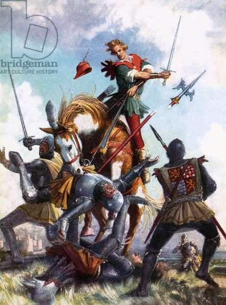 Robin Hood fighting