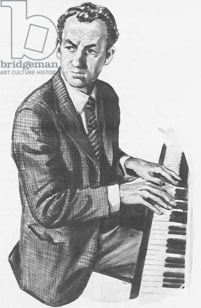 Sir Benjamin Britten (litho)