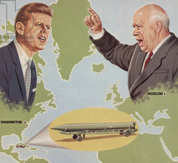 The Cuban Missile Crisis (colour litho)