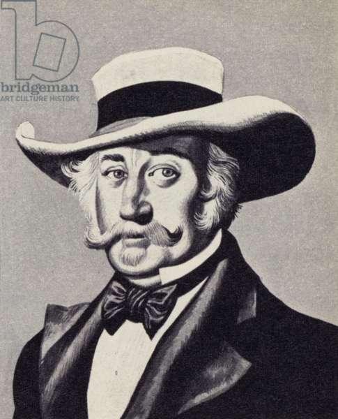 John Augustus Sutter (colour litho)