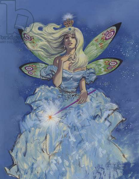 Fairy Godmother (gouache on paper)