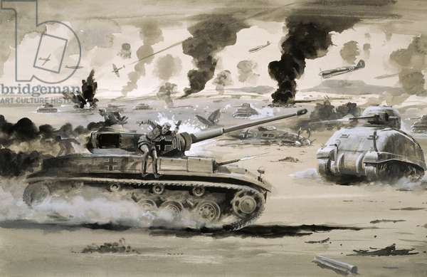 The defeat of the Afrika Corps at El Alamein