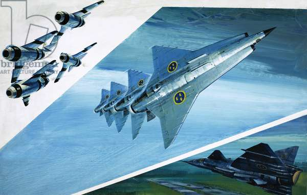 Swedish fighter planes from Saab