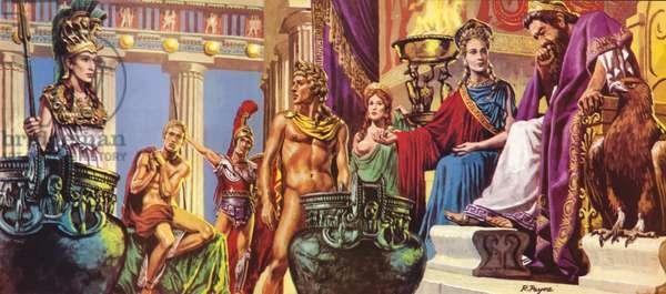 The Gods of Greek Legend (colour litho)