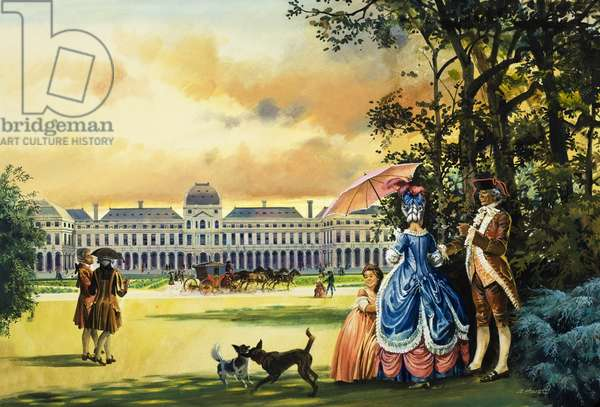 The Palace of the Tuileries (gouache on paper)