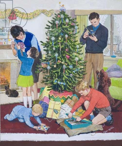 Christmas Morning (gouache on card)