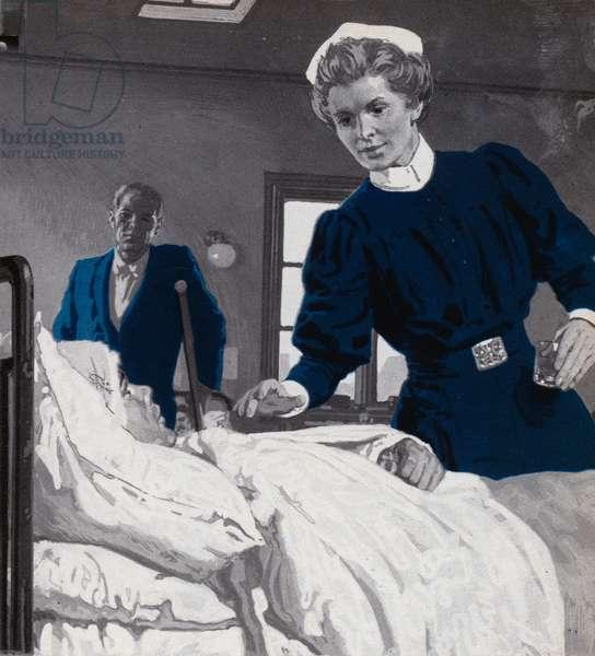 Edith Cavell, nursing (litho)