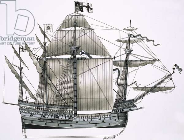 Unidentified sailing ship