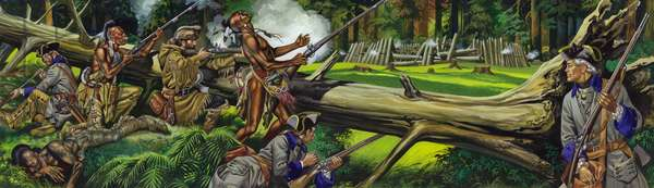 The French and the Indian War (gouache on paper)