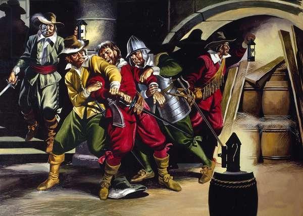 The Gunpowder Plot (gouache on paper)