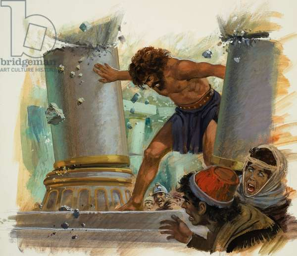 Samson (gouache on paper)