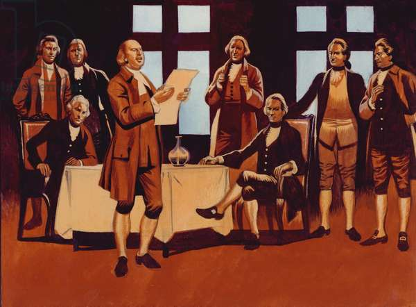 The Declaration Of Independence (gouache on paper)