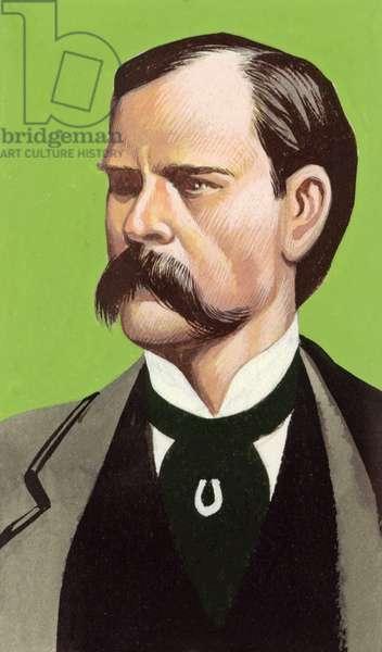Wyatt Earp (gouache on paper)