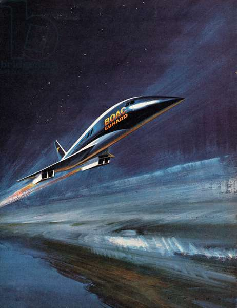 BAC-SUD Concorde –  Flying into the Future! (colour litho)
