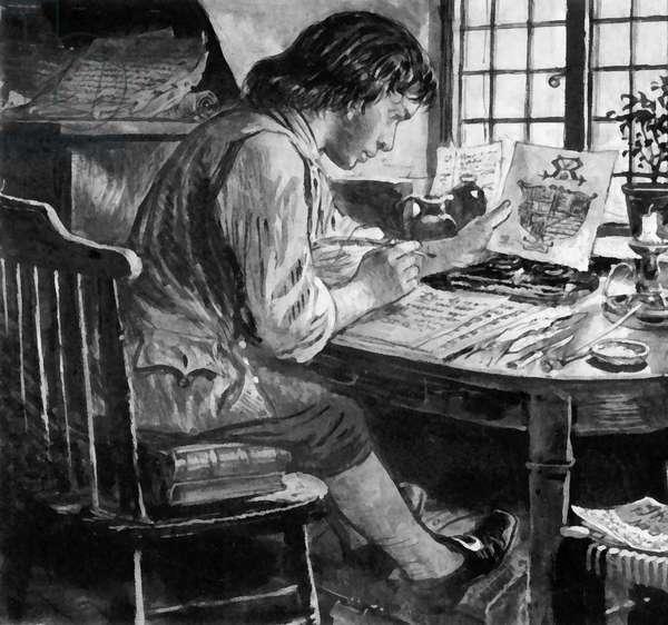 Thomas Chatterton, forger (litho)