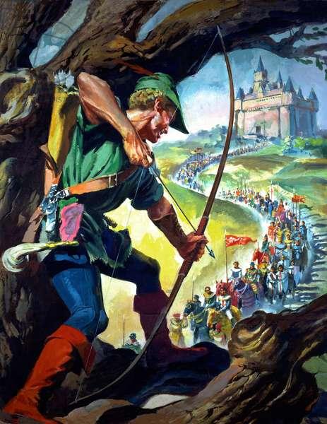 Robin Hood (gouache on paper)