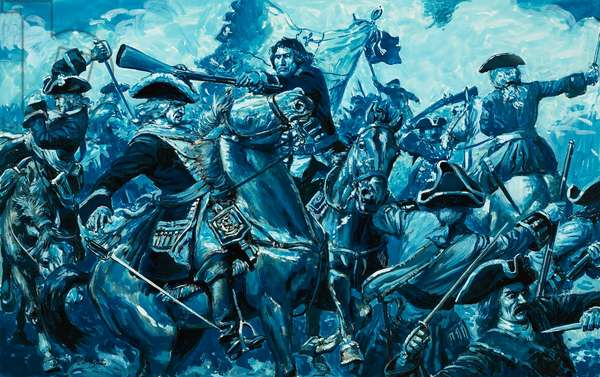 The long war of Spanish Succession began when Louis XIV declared war on Spain (gouache on paper)