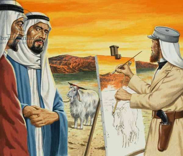 Holman Hunt's 'The Scapegoat'
