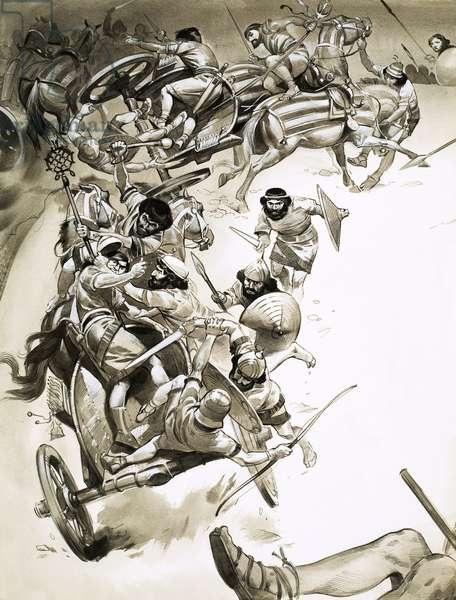 Unidentified battle scene