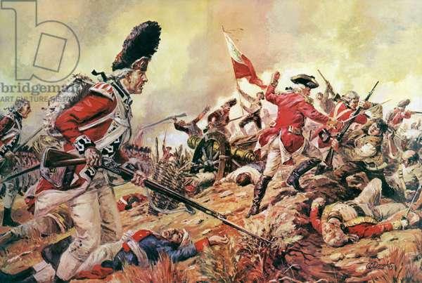The Battle of Bunker Hill (colour litho)