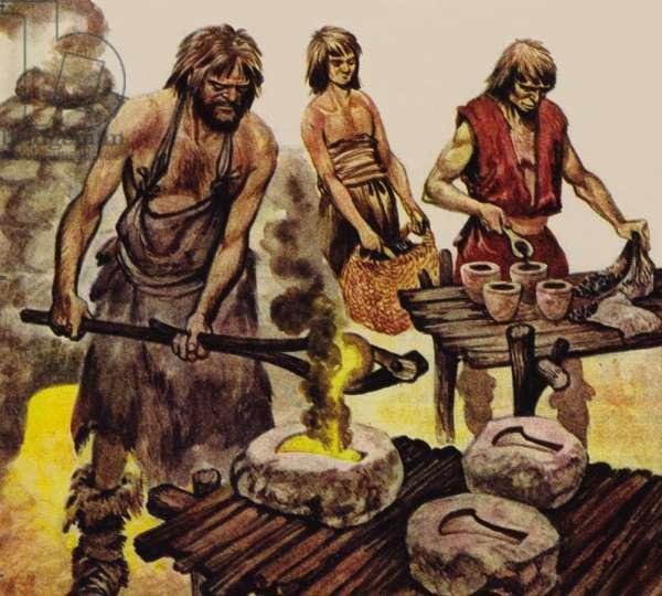 The Iron Age (colour litho)