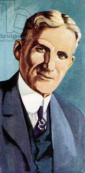 Henry Ford (colour litho)