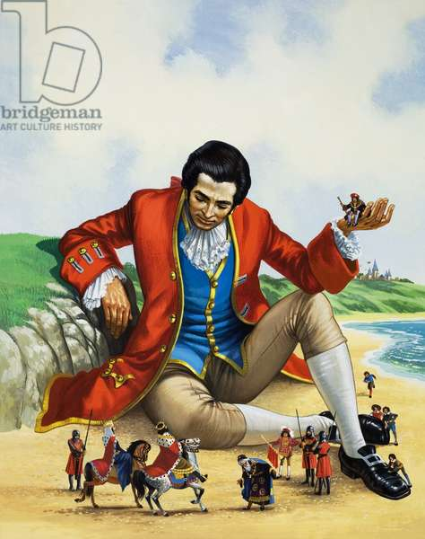 Gulliver's Travels (gouache on paper)