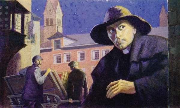 Canon Van Den Gheyn (colour litho)