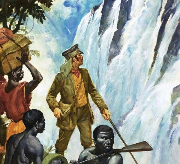 David Livingstone discovers the Victoria Falls