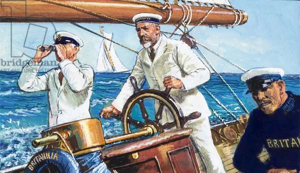 King George V sailing Britannia