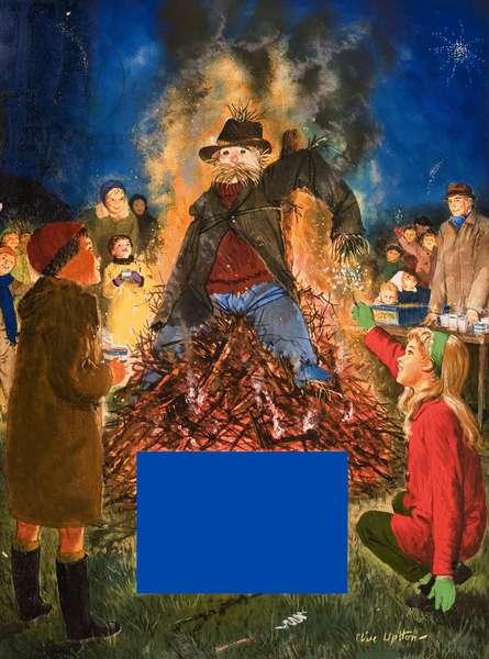 Illustration for rhyme entitled The Fifth of November