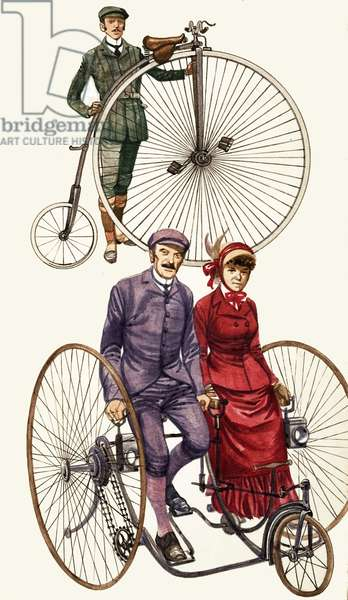 Early bicycles montage