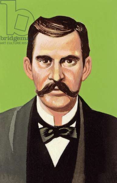 Doc Holliday (gouache on paper)