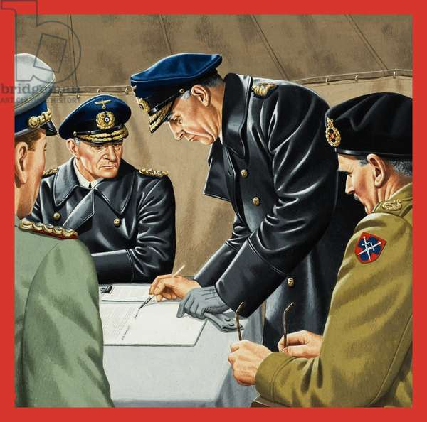 Signatures that Meant Surrender (gouache on paper)