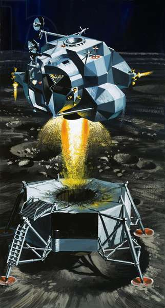 How the moon lander becomes a rocket capable of blasting astronauts off the surface of the moon