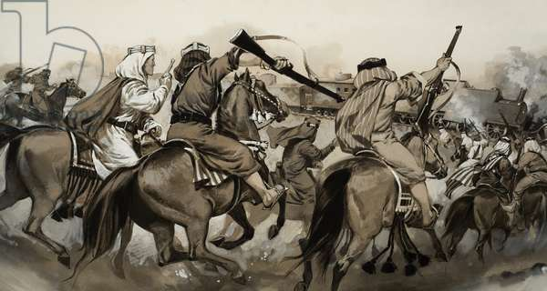 Arabs Versus Turks (gouache on paper)
