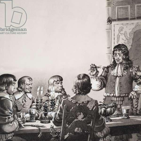 Royal Messengers (gouache on paper)