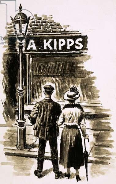 Mr Kipps (gouache on paper)