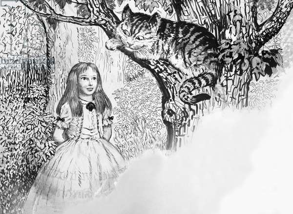 Alice in Wonderland meets the Cheshire Cat